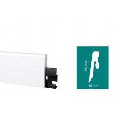 Плинтус Arbiton DORA Белый (D0610) 58 мм