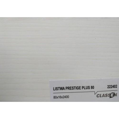 Плінтус Classen Prestige 80 Ясень білий (222402)
